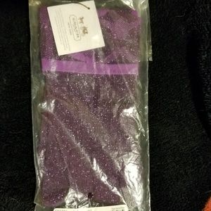 NWT Coach violet sparkly touch gloves